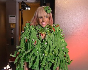 Lady Gaga Proves That It Can Be Easy Being Green!