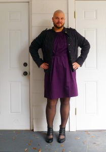 purple-dress-with-military-jacket